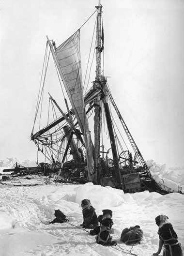 Endurance rozdrcená ledem, Royal Geographical Society